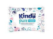 KINDII_Pure Sensitive Travel delikatne chusteczki dla niemowląt skóra wrażliwa 16szt. Kindii