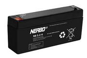 Akumulator AGM NERBO NB3.4-6 6V3,4Ah - kwasowo-ołowiowy