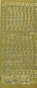 Sticker złoty 01080 - alfabet ozdobny x1