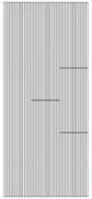 Sticker srebrny 01317 - paseczki proste x1