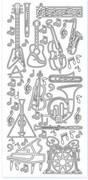 Sticker srebrny 10880 - instrumenty x1