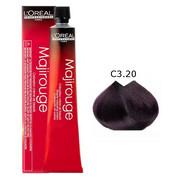 Loreal Majirel Majirouge | Trwała farba do włosów - kolor C3.20 ciemny brąz opalizujący intensywny 50ml