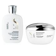 Alfaparf Semi Di Lino Diamond Illuminating   Zestaw rozświetlający do włosów: szampon 250ml + maska 200ml