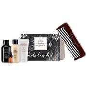 John Masters Organics Holiday Kit | Zestaw świąteczny: szampon 60ml + odżywka 60ml + mleczko do włosów 30ml + olejek 3ml + grzebień