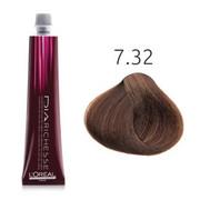 Loreal Dia Richesse 7.32 | Półtrwała farba do włosów - kolor 7.32 blond złocisto-opalizujący 50ml