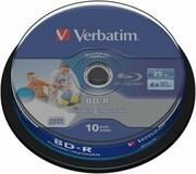 Verbatim BLU-RAY BD-R 25GB x6 10szt PRINT NO ID Verbatim 43804