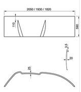 Ravak Panel do wanny Asymmetric 160 P CZ47100000