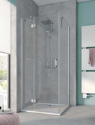 Kermi Osia Ściana boczna, szkło przezroczyste, profile srebrne 80x200cm OSTWD08020VPK
