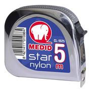 Miara zwijana STAR chromowana, obudowa ABS 2m/19mm MEDID