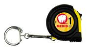 Miara zwijana kieszonkowa z brelokiem do kluczy, ABS + guma 1m/7mm MEDID