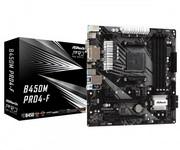ASRock Płyta główna B450M PRO4-F AM4 4DDR4 DVI/HDMI/VGA 4SATA3 M.2 micro ATX asrock