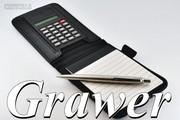 Kalkulator, Notes i Długopis Parker z Grawerem w Zapinanym Czarnym Etui