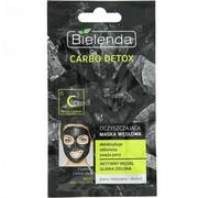 BIELENDA Carbo Detox oczyszczająca maska węglowa dla cery mieszanej i tłustej 8g BIELENDA