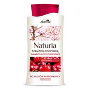 JOANNA Naturia szampon z odżywką do włosów farbowanych Wiśnia 500ml JOANNA