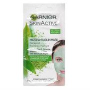 GARNIER Skin Active Matcha + Kaolin Mask oczyszczajaca maseczka z glinką do skóry tłustej i mieszanej 8ml GARNIER
