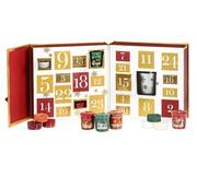 The Perfect Christmas - Zestaw Kalendarz adwentowy - 12 tealightów + 12 samplerów + świecznik Yankee Candle