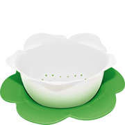 1283-A851 Durszlak z podstawką ZAK! Designs duży biało-zielony (1283-A851)