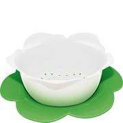 1283-A850 Durszlak z podstawką ZAK! Designs średni biało-zielony (1283-A850)