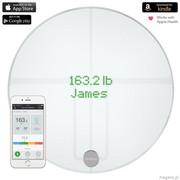 QardioBase 2 Smart Scale - Inteligentna waga z funkcją analizy składu ciała BMI Wi-FI dla iOS / Andr