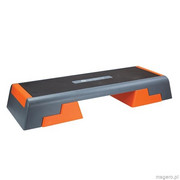 STEP DO AEROBIKU black orange AS007 98 x 37,5 cm Profesional Premium