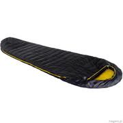 ŚPIWÓR HIGH PEAK PAK 1000 (225x80x50cm) antracytowo/żółty L-zip 23311