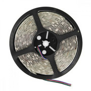 Whitenergy Taśma LED|5m|30szt/m|SMD5050|7.2W/m|12V|IP65|10mm|RGB|bez konektora WHITENERGY
