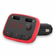 Transmiter Samochodowy Savio TR-10 z funkcją Bluetooth + ładowarka 2 A Czerwony SAVIO