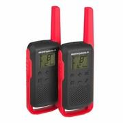 Motorola T62 PMR 446 KRÓTKOFALÓWKI CZERWOWE-CZARNE Motorola