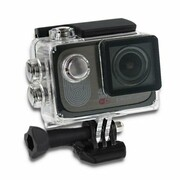 Qoltec Wodoodporna kamera sportowa   2 cale   4K   Czarna Qoltec