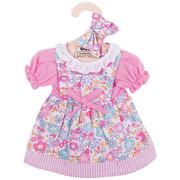 Sukienka dla lalki różowa w kwiatki Bigjigs