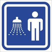 Oznaczenie drzwi - prysznic męski Anro
