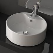 Rea Vena owalna umywalka nablatowa, biała