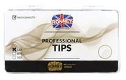 Ronney PROFESSIONAL TIPS STANDARD TRANSPARENT Tipsy standardowe z dużą kieszonką, bezbarwne (120 szt.)