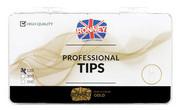 Ronney PROFESSIONAL TIPS ALMOND TRANSPARENT Tipsy migdałki bez kieszonki, bezbarwne (120 szt.)