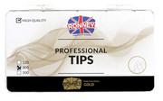 Ronney PROFESSIONAL TIPS STANDARD TRANSPARENT Tipsy standardowe z dużą kieszonką, bezbarwne (300 szt.)