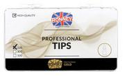 Ronney PROFESSIONAL TIPS ALMOND CREAM Tipsy migdałki bez kieszonki, kremowe (120 szt.)