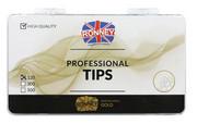 Ronney PROFESSIONAL TIPS FRENCH CREAM Tipsy french z małą kieszonką, kremowe (120 szt.)