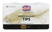 Ronney PROFESSIONAL TIPS FRENCH WHITE Tipsy french z małą kieszonką, białe (300 szt.)