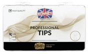 Ronney PROFESSIONAL TIPS ALMOND WHITE Tipsy migdałki bez kieszonki, białe (120 szt.)