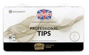 Ronney PROFESSIONAL TIPS ALMOND CREAM Tipsy migdałki bez kieszonki, kremowe (300 szt.)