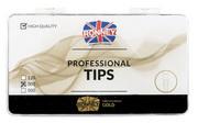 Ronney PROFESSIONAL TIPS CLAWS CREAM Tipsy szpony z dużą kieszonką, kremowe (300 szt.)