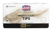 Ronney PROFESSIONAL TIPS STANDARD CREAM Tipsy standardowe z dużą kieszonką, kremowe (300 szt.)