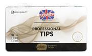 Ronney PROFESSIONAL TIPS STANDARD CREAM Tipsy standardowe z dużą kieszonką, kremowe (120 szt.)
