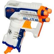 Hasbro Elite XD Triad, Pistolet NERF Biały/Niebieski, Zabawka blaster, 8 rok/lata, Chłopiec, Niebieski, Pomarańczowy, Biały, Nerf N-Strike, Zabawka nieodpowiednia dla dzieci poniżej 36. miesiąca życia