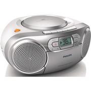 Philips Bumbox CD AZ127/12, Odtwarzacz CD Srebrny, stereo, Dynamic Bass Boost, 2 W, FM, Przenośny odtwarzacz CD, Szary