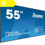 """iiyama LE5540UHS-B1 wyświetlacz znaków 138,7 cm (54.6"""") LED (Dioda elektroluminescencyjna) 4K Ultra HD Czarny Czarny, 138,7 cm (54.6""""), LED (Dioda elektroluminescencyjna), 3840 x 2160 piksele, 350 cd/m2, 4K Ultra HD, 16:9"""