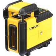 Stanley SLL360 Niwelator liniowy 25 m, Laser krzyżowy Czarny/Żółty, Niwelator liniowy, Czarny, Żółty, 25 m, 0,4 mm/m, Zielony, Bateria