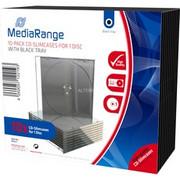 MediaRange BOX32 opakowania na płyty CD Opakowanie na płytę DVD 1 dyski Czarny, Przezroczysty, Futerał ochronny Opakowanie na płytę DVD, 1 dyski, Czarny, Przezroczysty, Plastik, 120 mm, 140 mm, Handel detaliczny
