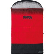 Coleman Festival Collection Double Schlafsack, Sleeping bag Czerwony/Czarny