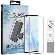 Eiger 3D GLASS Przezroczysta ochrona ekranu Telefon komórkowy/Smartfon OnePlus 1 szt., Folia ochronna przezroczysty/Czarny, Przezroczysta ochrona ekranu, Telefon komórkowy/Smartfon, OnePlus, 8, Odporny na kurz, Odporny na zadrapania, Czarny, Przezroczysty